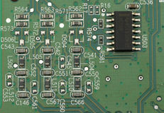 Makro des PC-Stromkreises Lizenzfreies Stockbild