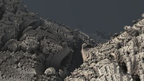 Makro digitale Illustration 3d der abstrakten Oberflächenstruktur der gebirgsnatur materiellen lizenzfreie stockbilder
