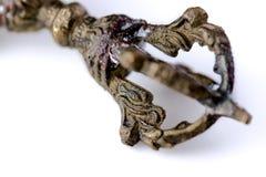 Makro- Dorje lub Varja używać z Tybetańskimi dzwonami dla medytaci i relaksu Zdjęcia Stock