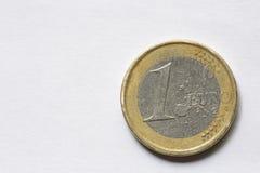 Makro eines Euros Lizenzfreies Stockfoto