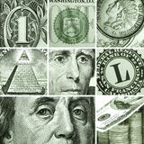Makro eingestellt von USA-Dollar Stockbild