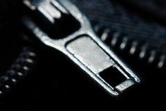 Makro för elasticitetsglidareblixtlås Arkivfoto