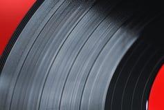 Makro för vinylrekord Arkivbild