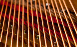 makro- fortepianowi sznurki Obrazy Royalty Free