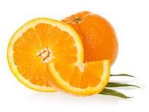 Makro- foto rżnięta pomarańcze Zdjęcie Stock