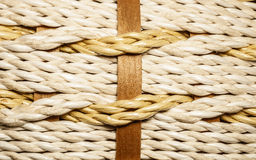 Makro- fotografia tkany łozinowy kosz Obraz Royalty Free