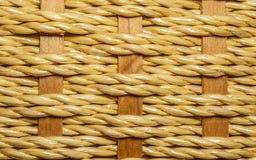 Makro- fotografia tkany łozinowy kosz Fotografia Stock