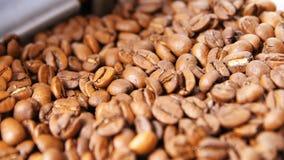 Makro- Górny widok Flavoured Brown Dobrze Piec Kawowe adra zbiory wideo