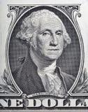 Makro- George Washington na jeden dolarowym rachunku Fotografia Royalty Free