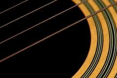 Makro- gitara sznurki Obrazy Stock