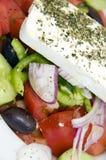 Makro griechischer Salat lizenzfreie stockbilder