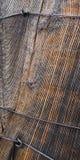 Makro-Holz einer Eisenbahnschwelle Stockbilder
