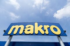 Makro sign at branch royalty free stock images
