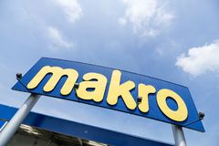 Makro sign at branch stock image