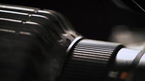 Makro- kamera obiektyw, ostrość pierścionek zbiory