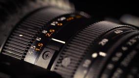 Makro- kamera obiektyw, zoom, irys, ostrość pierścionek zdjęcie wideo