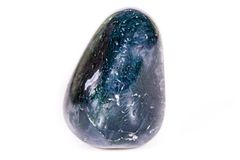 Makro- kopalina kamienia agat mechaty India na białym tle Fotografia Royalty Free
