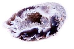 Makro- kopalina kamienia agata pączek na białym tle Fotografia Stock