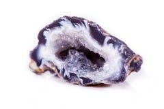 Makro- kopalina kamienia agata pączek na białym tle Obrazy Royalty Free