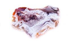 Makro- kopalina kamienia agata pączek na białym tle Obraz Stock