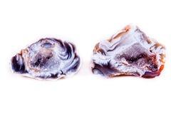 Makro- kopalina kamienia agata pączek na białym tle Obrazy Stock