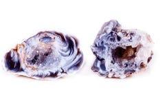 Makro- kopalina kamienia agata pączek na białym tle Obraz Royalty Free