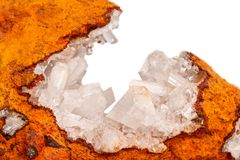 Makro- kopalina kamienia kryształów Hemimorphite skała na białym backgr fotografia royalty free