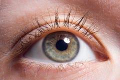 Makro menschliches Auge lizenzfreies stockbild