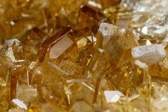 Makro- Mineral- Stein-baryte Kristalle, Â-Baryt auf einem weißen Hintergrundabschluß oben stockbilder