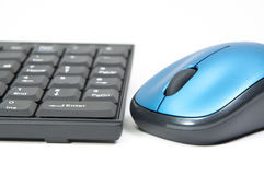 Makro-PC-Maus und -tastatur Stockbild