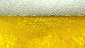 Makro- plan piwo z bąblami zdjęcie wideo
