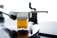 makro registrerad turntable Arkivfoto