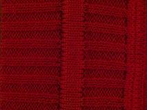 Makro rote Strickjacke Stockbilder
