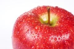 Makro saftiger roter Apfel Stockfotos