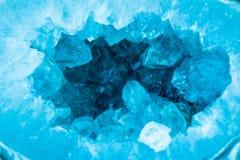 Makro- seledynu koloru geoda Obrazy Stock