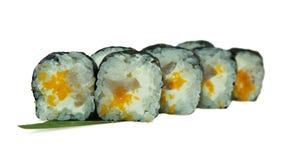 Makro som skjutas av sushi Japansk restaurang, sushi, orientalisk tradition Arkivbild