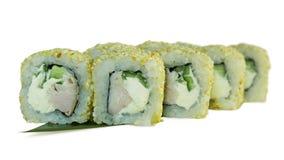 Makro som skjutas av sushi Japansk restaurang, sushi, orientalisk tradition Fotografering för Bildbyråer