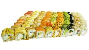Makro som skjutas av sushi Japansk restaurang, sushi, orientalisk tradition Arkivfoton