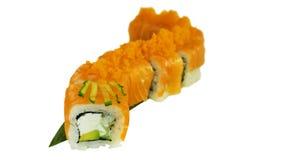 Makro som skjutas av sushi Japansk restaurang, sushi, orientalisk tradition Royaltyfria Bilder