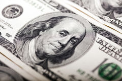 Benjamin Franklin 100 Dolarowy Bill portret Obrazy Royalty Free