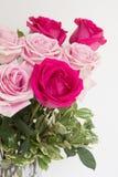 Makro- strzał bukiet róże Zdjęcia Stock
