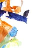 Papierowych pasków tło na bielu Fotografia Stock