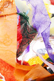 Papierowych pasków tło na bielu Zdjęcie Royalty Free