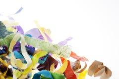 Papierowych pasków tło na bielu Obrazy Stock