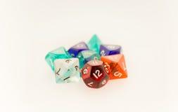 Makro- strzał hazardów kostka do gry ustawiający Zdjęcie Royalty Free