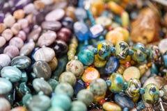 Makro- strzał rhodochrosite kamień, jaspis, szkło, hrizokola kamienie zdjęcia royalty free