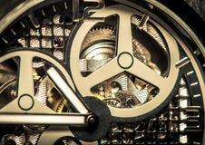 Makro- strzał zegarka ruch fotografia stock