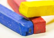 Makro- strzał barwioni pastele Obraz Stock
