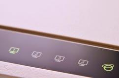 Makro- strzał interneta modem Zdjęcie Royalty Free