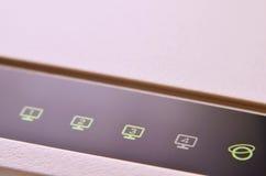 Makro- strzał interneta modem Zdjęcia Royalty Free